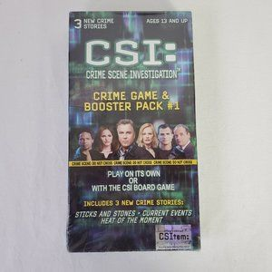 CSI Game and Booster Pack Crime Scene New